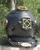 NauticalMart Diving Diver's Helmet U.S Navy Mark V Black Divers Helmet  - $269.00