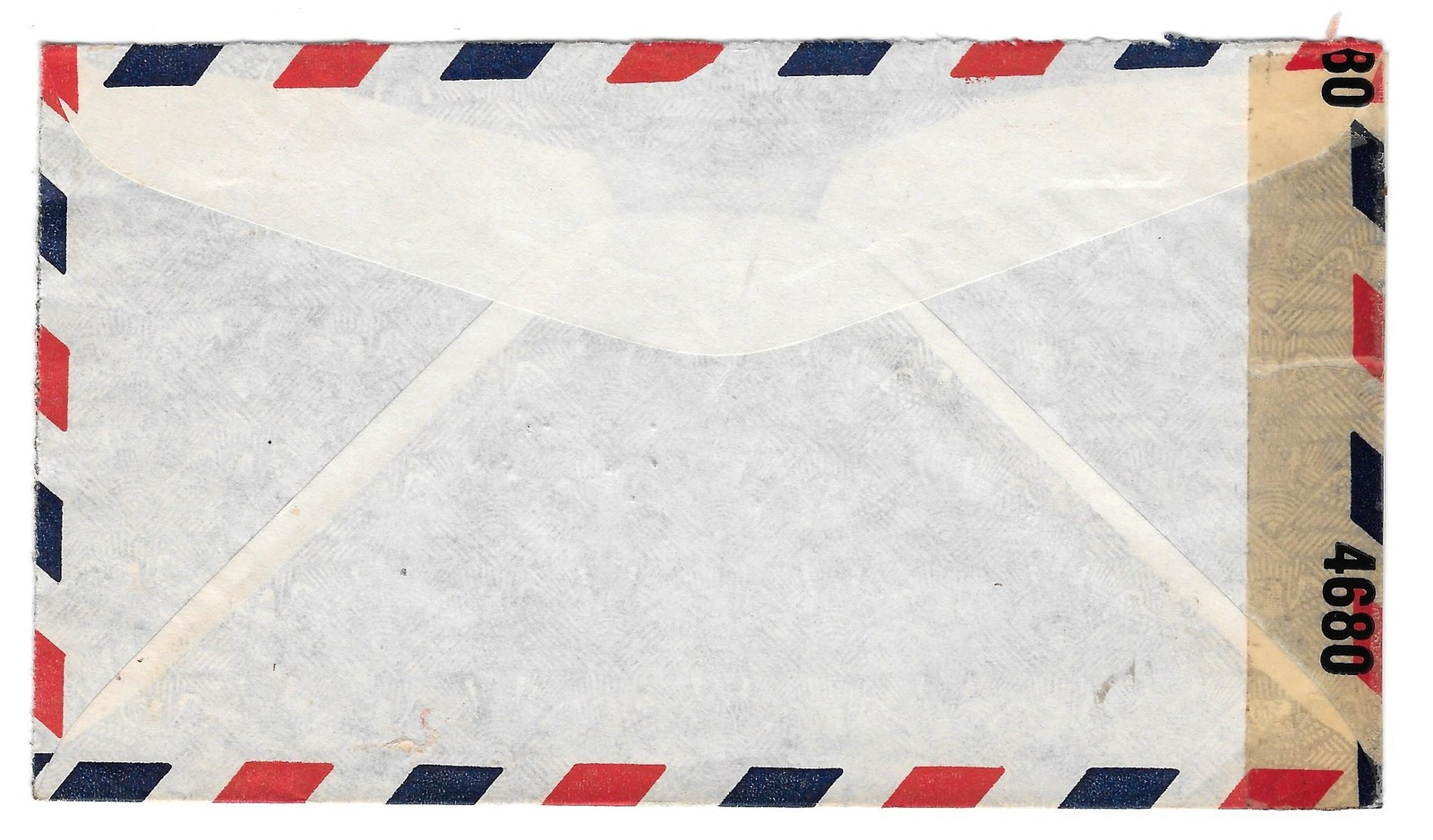 WWII 1943 Censored Cover 4680 Panama Aero to NY US Sc RA10 344 345 Bank Corner