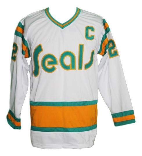 Johnston  22 california seals retro new men hockey jersey white   1
