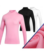 Simier Long Sleeve Golf Clothes for Women Base Shirt Pink_XL - $35.37