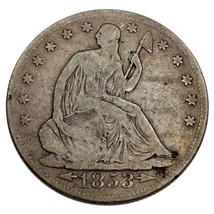 1853-O 50C Seated Half Dollar VG Condition, Natural Color, Nice Overall ... - $79.19