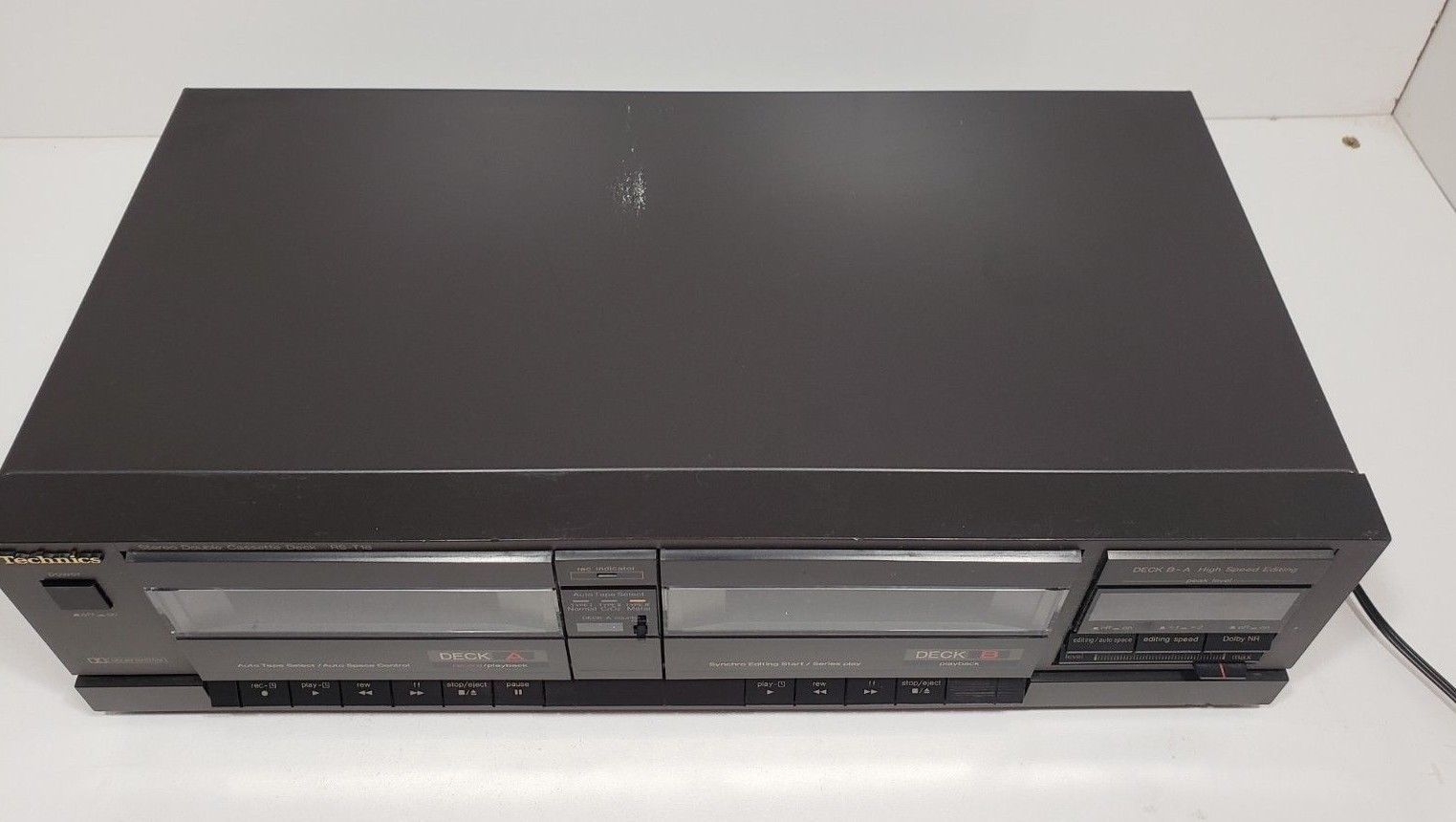 Technics Stereo Double Cassette Deck RS-T18...Tested image 5