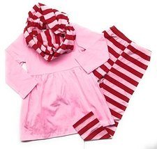 Cute Kids Clothing Co Kids Clothing Toddler Girl Striped Pink/Red Valent... - $24.99