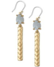 """Lucky brand gold tone stone & chevron etched bar 2-1/3"""" drop earrings $29 - $14.69"""