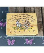All Night Media Rubber Stamp Flowers Thoughts Of You Walk Forever Garden... - $11.38