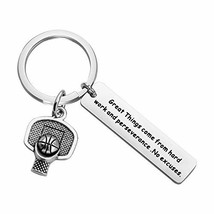 AKTAP Basketball Player Gift Basketball Lover Keychain Great Thing Come from Har
