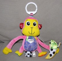 Lamaze Missy the Monkey Baby Developmental Pink Toy Rattle Ring Link Cli... - $29.69