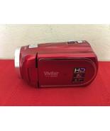 Vivitar DVR 960HD 1080i HD 12x Optical Zoom Video Camera Camcorder Kit Red - $50.00