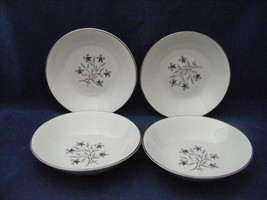 "4 Salem China Whimsey 5 3/8"" Fruit or Dessert Bowls International Ironstone - $19.95"
