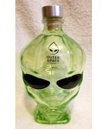 Alien Head Outer Space Large Empty Glass Green Vodka Bottle 750 ML - $24.95