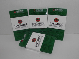 4 Bacardi Classic Cocktails Lime Wedge Ice Trays Rubber Green New - $15.83