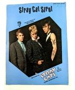 Stray Cat Strut by Brian Setzer Piano Vocal Guitar Sheet Music Rockabill... - $19.30