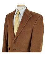 Lauren Ralph Lauren Corduroy Sport Coat 38R Two Button Brown Cotton Elbo... - $38.99