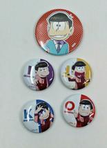 Osomatsu San Round Tin Metal Badge FA/O Japanese Anime Fujio Akatsuka Se... - $20.48