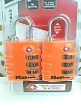 Master Lock, 2 Pack, 4684T, TSA Luggage Lock Orange sealed new!  store. image 2