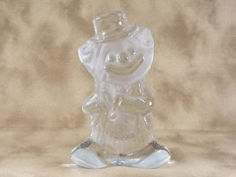 Viking Glass Crystal Satin Frost Happy Circus Clown Figurine Paperweight... - $38.00
