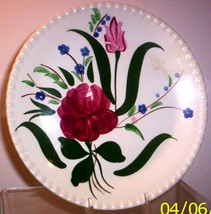 BLUE RIDGE SOUTHERN POTTERY-- BLUE BELL BOUQUET PLATE - $7.95