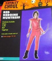NEW Red Heroine Huntress Hunger Costume Games Girl Teen Junior 1-3 NWT FREE SHIP - $18.99
