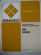 Gravely Tractors owner's manual 800 Series grounds maintenance 1977 (19 pg) fair - $10.86