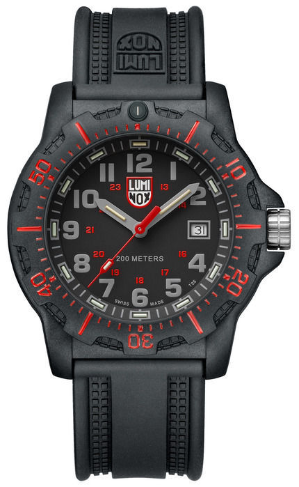 New Luminox Black Ops Black Case Silicone Strap  Mens Watch 8895