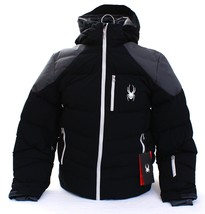 Spyder ProWeb Black Rocket Down Filled Hooded Insulated Ski Jacket Men's... - $412.49