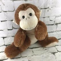 "Fiesta 23"" Laydown Monkey Plush Brown Chimp Stuffed Animal Bed Pillow So... - $19.79"