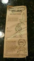 "1978 LUV A BUBBLE TENDER LUV DOLL INSTRUCTIONS SHEET Rare 8.5"" x 3.5"" - $13.84"