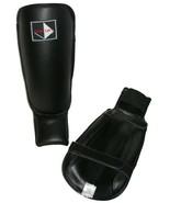Century Martial Arts Shin Instep Leg Guards Rigid Black Kickboxing Thai ... - $23.33