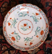 SET 8 PLATE JAPAN FINE BONE PORCELAIN CHINA RED TULIP FLOWERS GOLD GILT ... - $69.99