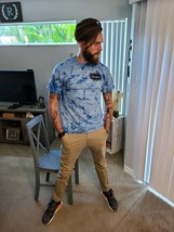 Men's Regular Fit Tee Tie Dye Sky Blue/White - $19.99