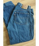 Levis 501 0115 Jeans Vtg 38x32  USA Button Fly Red Tab Straight Leg *Alt... - $18.70