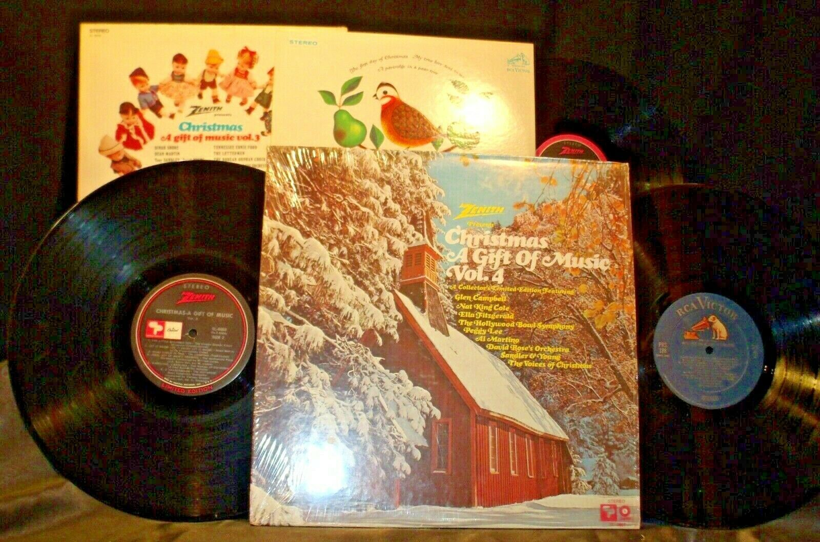 3 Christmas Records-The 12 Days of Christmas, A Christmas a Gift of Music Vol 3