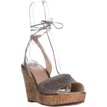 Guess Wedinna Platform Ankle-Strap Sandals, Gold Multi, 10 US - £26.93 GBP
