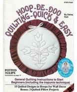 Hoop-De-Doo Quilting Quick & Easy Beginner Patterns Instructions VTG Cra... - $8.90