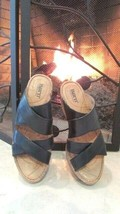 Born Black Leather Sandals Sz 7 Compare at $99.00 - $28.71