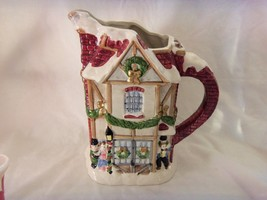 FITZ & FLOYD 1988 A DICKENS CHRISTMAS  PITCHER  1 1/4 QT   NICE - $14.80