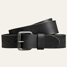 Timberland Men's Milled Buffalo Leather Black Belt Style #A1C44 (001) All Sizes - $24.99