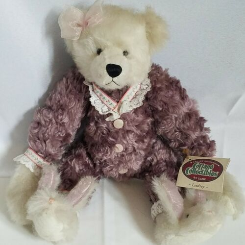 Primary image for Ganz Cottage Collectibles Lindsey Mohair Teddy Bear CC328 Signed CR