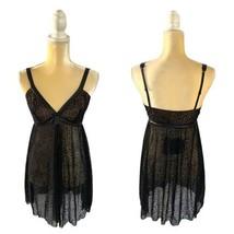 Cosabella Vanna Babydoll Set Size L Large Black New Chemise Dress Animal... - $59.30