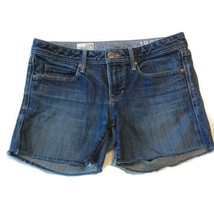 Gap 1969 Cutoff Jean Shorts Sz 27 4 Real Straight Blue Denim Broken In Distress - $18.80