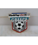 1994 World Cup of Soccer Pin - Greece Shield Design by Peter David - Met... - $15.00