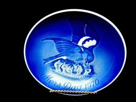 "Bing & Grondahl 6"" Mother's Day Plate, Mors Dag 1970 Mama Bird w/Babies,... - $14.65"