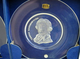 Val St.Lambert Crystal Glass Plates Signed Old Masters Limited Edition 1972 - $15.84