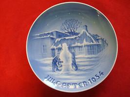 1954 BING & GRONDAHL B&G CHRISTMAS PLATE   BIRTH PLACE HANS CHRISTIAN AN... - $55.00