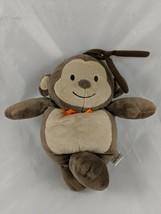 Carters Child of Mine Brown Monkey Crib Plush Musical Lullaby Orange Stuffed - $9.13