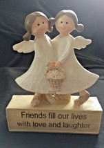 """ANGELS """"Friends Fill Our Lives with Love and Laughter"""" Figurine - $8.59"""
