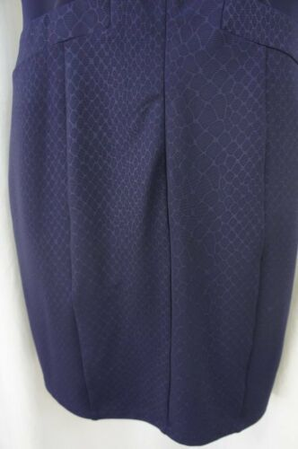 Guess Los Angeles Dress Sz 12 Midnight Blue Sheer Sleeveless Cocktail Party  image 10