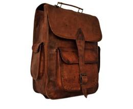 Brown Large Waterproof Men Leather Backpack Laptop School Bag Gents Trav... - $57.96+