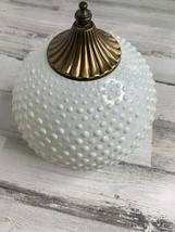 Vintage Hob Nob Milk Glass Brass Globe Shade Replacement Fixture Light 3... - $25.53