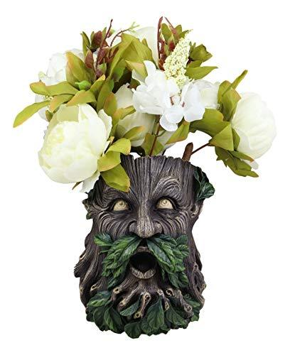 Primary image for Ebros Gift Whispering Willows Evergreen Forest Greenman Wall Hanging Planter Scu